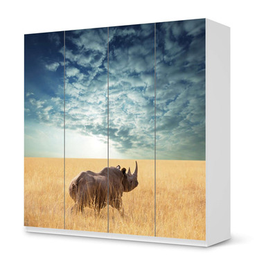 Klebefolie IKEA Pax Schrank 201cm Höhe - 4 Türen - Rhino- Bild 1