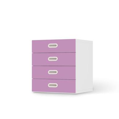 Klebefolie IKEA Stuva / Fritids Kommode - 4 Schubladen - Flieder Light- Bild 1
