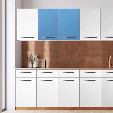 Klebefolie - Wandschrank 80cm Breite - Blau Light