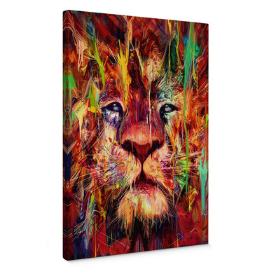 Leinwandbild Nicebleed - Lion Red