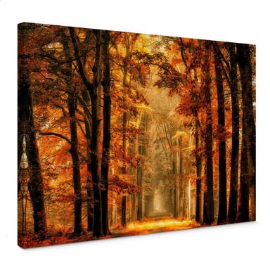 Leinwandbild van de Goor - Herbstallee
