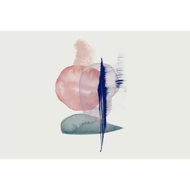 Livingwalls Fototapete ARTist Connection mit Aquarell Zeichnung blau, creme, grün, rot - Bild 1