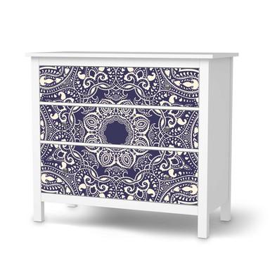 Möbelfolie IKEA Hemnes Kommode 3 Schubladen - Blue Mandala