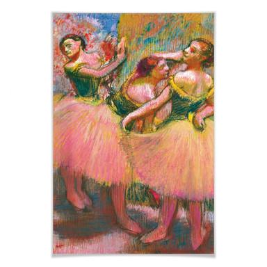Poster Degas - Drei Tänzerinnen mit grünen Korsagen