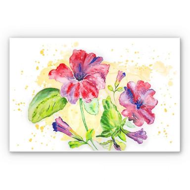 Wandbild Toetzke - Leuchtender Blütenkelch