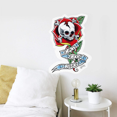 Wandsticker Miami Ink Death Before Dishonor
