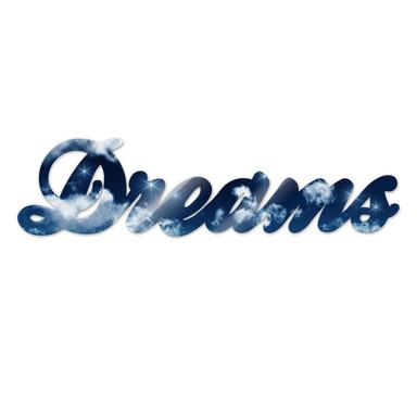 Dekobuchstaben Dreams + 8 Klebepads