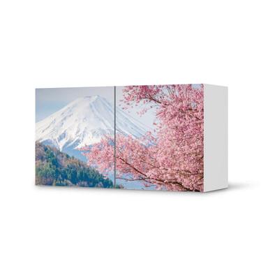 Folie IKEA Besta Regal 2 Türen (quer) - Mount Fuji