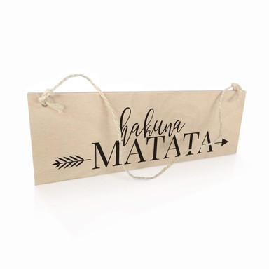 Holzschild Hakuna Matata mit Pfeil