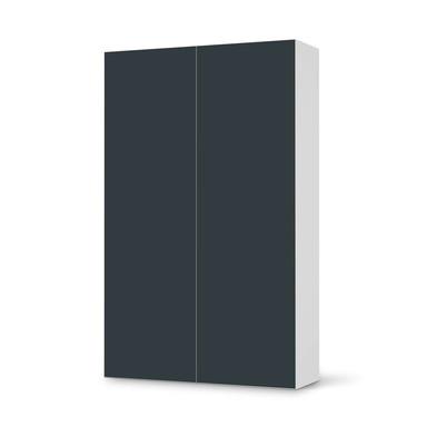 Klebefolie IKEA Besta Schrank 2 Türen (hoch) - Blaugrau Dark