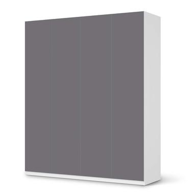 Möbelfolie IKEA Pax Schrank 236cm Höhe - 4 Türen - Grau Light