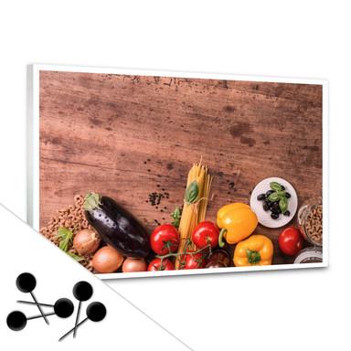 Pinnwand Frisches Gemüse 03 inkl. 5 Pinnadeln