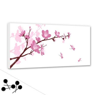 Pinwand Kirschblüten inkl. 5 Pinnadeln