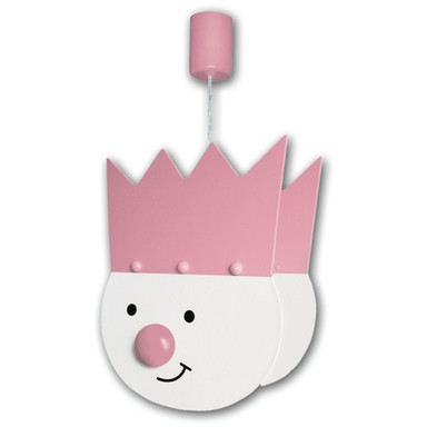 rosa/weisse Pendelleuchte Königskind 1-flg.