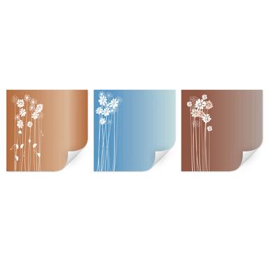 Wallprint Flowers (3-teilig)