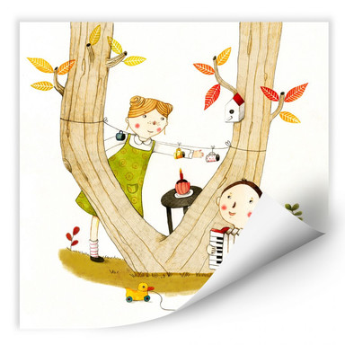Wallprint Loske - Picknick
