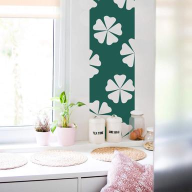 Wandtattoo Banner Blüten