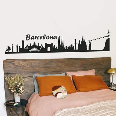 Wandtattoo Barcelona Skyline