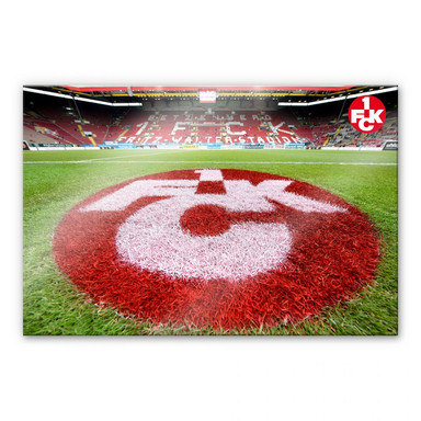 Acrylglasbild 1. FC Kaiserslautern - Rasen Logo