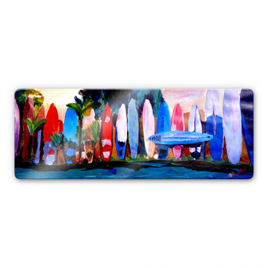 Glasbild Bleichner - Surfwall - Panorama
