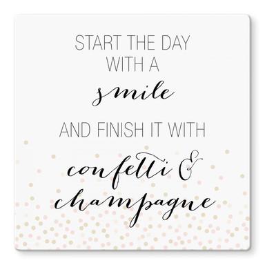 Glasbild Confetti & Cream - Start the day with a smile