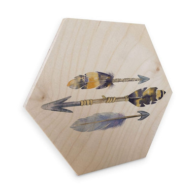 Hexagon - Holz Birke-Furnier - Kvilis - Arrows
