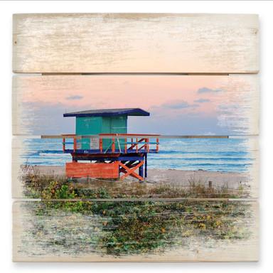Holzbild Miami Rettungsschwimmerhäuschen