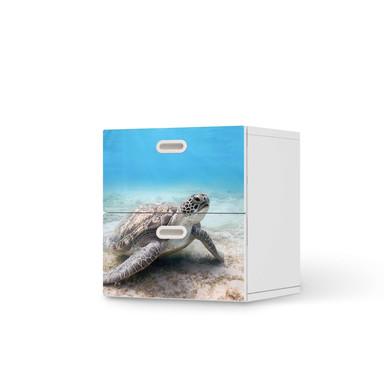 Klebefolie IKEA Stuva / Fritids Kommode - 2 Schubladen - Green Sea Turtle- Bild 1