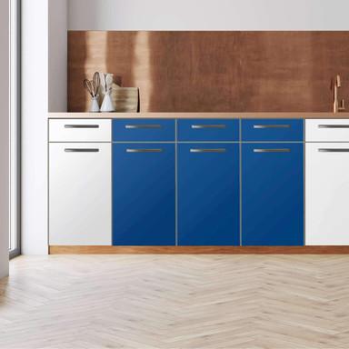Küchenfolie - Unterschrank 120cm Breite - Blau Dark