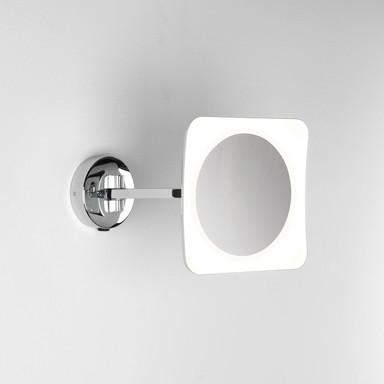 LED 5-fach Vergrösserung-Kosmetikspiegel Mascali in Chrom 6.1W 153lm IP44