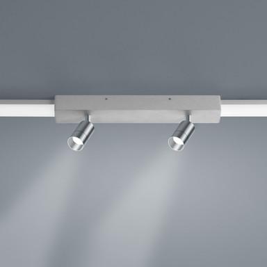 LED Lichtschienen Spot Vigo in nickel-matt 2x4W 720lm Endelement