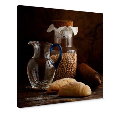 Leinwandbild Laercio - Italian Breads - quadratisch