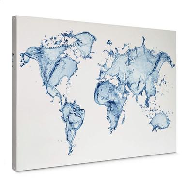 Leinwandbild Splashing Worldmap