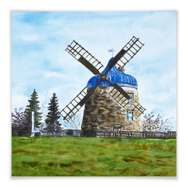 Poster Toetzke - Traditionelle Windmühle - quadratisch