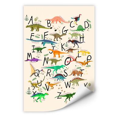 Wallprint Dinosaurier Alphabet