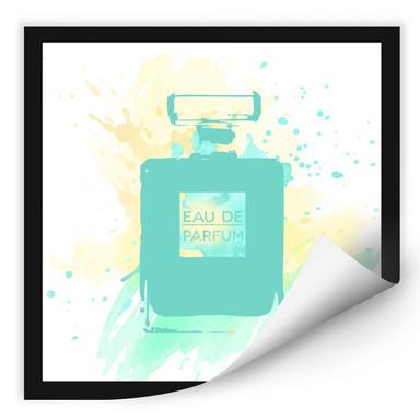 Wallprint Eau de Parfum Aquarell - Mint