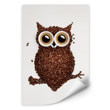 Wallprint Kaffeeeule