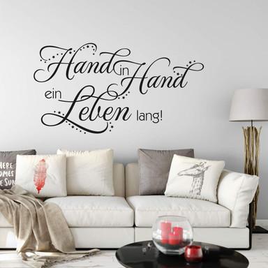Wandtattoo Hand in Hand...