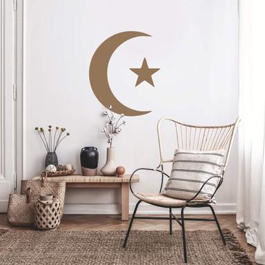 Wandtattoo Mondsichel und Stern 01