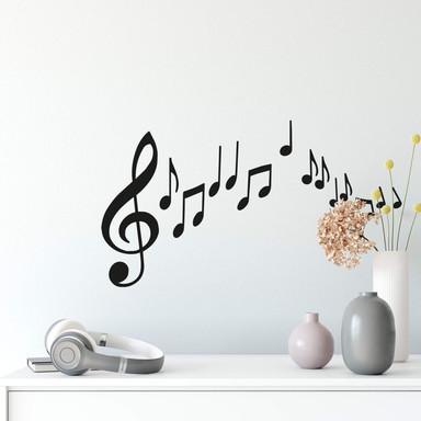 Wandtattoo Musiknoten