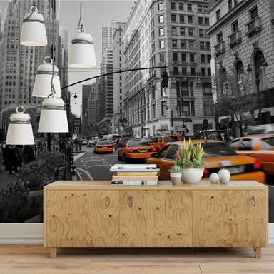 Fototapete - Cabs in Manhattan - 336x260cm - Bild 1