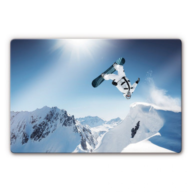 Glasbild Snowboarder