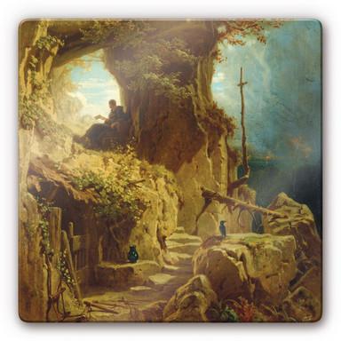 Glasbild Spitzweg - Der Einsiedler