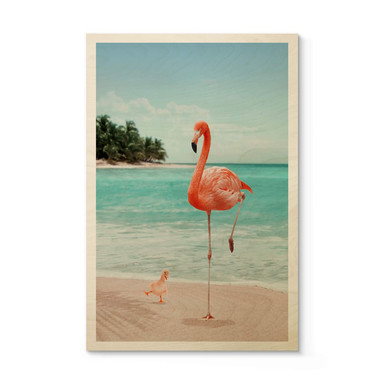 Holzposter Loose - Wannabe Flamingo
