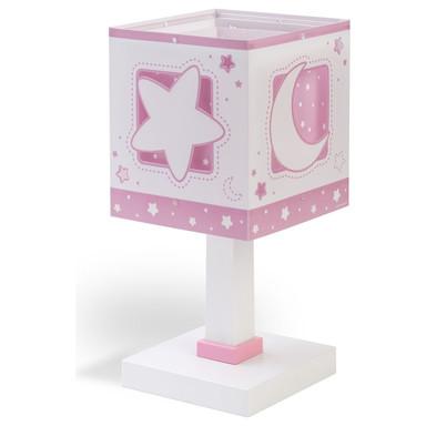 Kinderzimmer Tischleuchte Moonlight in Rosa fluoreszierend E14