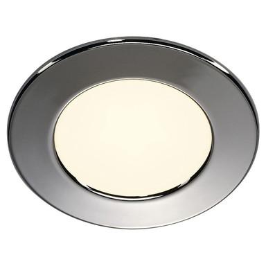 LED Einbauleuchte DL 126. rund, glänzender Chrom, 2700 K