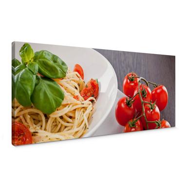 Leinwandbild Pasta Italiano - Panorama