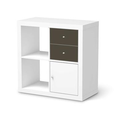 Möbelfolie IKEA IKEA Expedit Regal Schubladen - Braungrau Dark