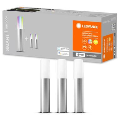 SMART& LED Erdspiessleuchten in Silber und Weiss 3x 1.03W 45lm IP65 RGBW