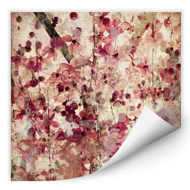 Wallprint Vintage Blütenmuster